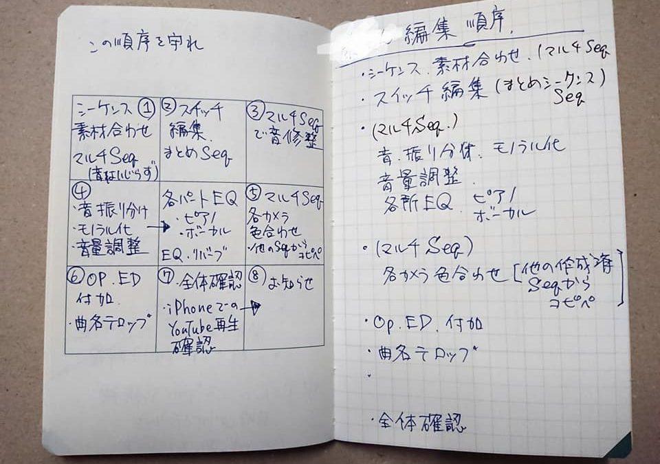 事例紹介:M9ノートで編集順をまとめる・大木さんの使い方