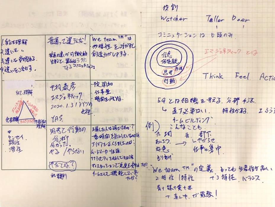 講演・セミナーの聴講にM9notesを使った塩澤貴良さんの事例。M9notesに残されたメモは一目でその時を再現できます。