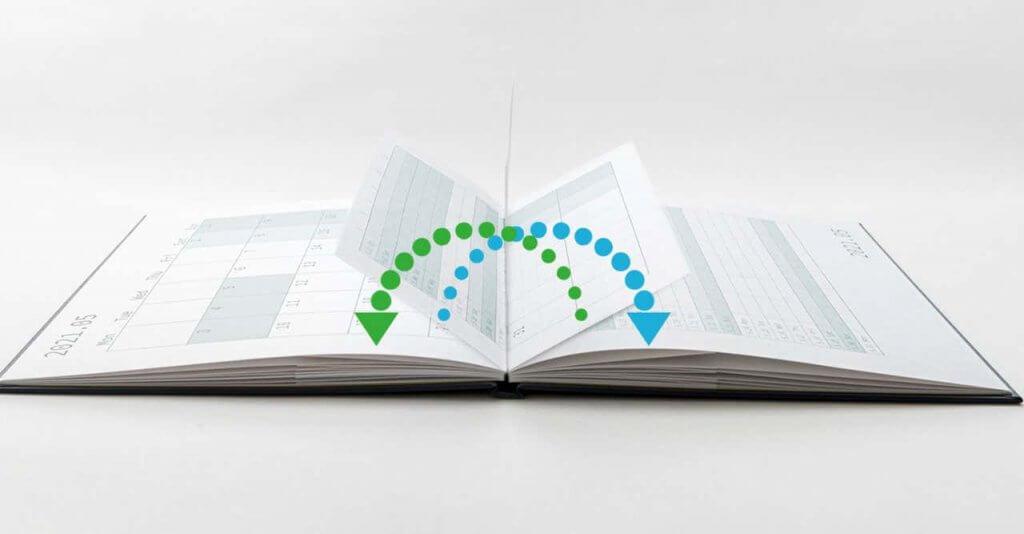 他の手帳にはない、ユニークなページ設計です。