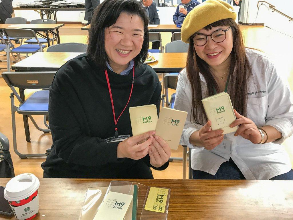 M9notesをアイディアのメモに使う小山さんと武田さん