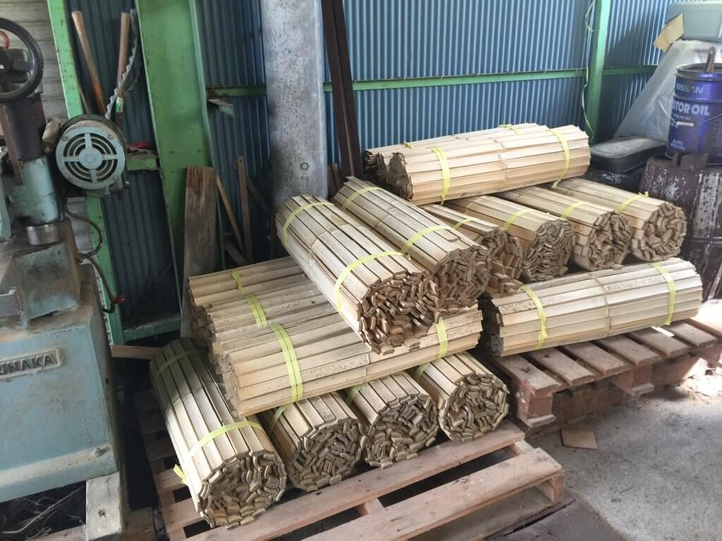 原料の竹は、2020年台風の災害にあった大分県の竹