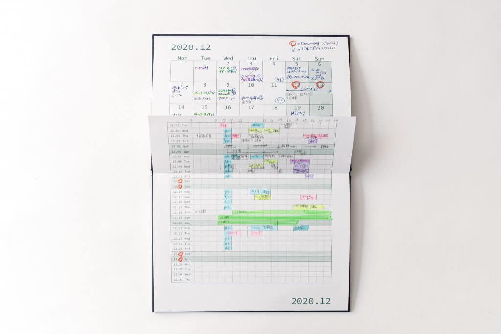 M365の記入事例:1日を虫の目でスケジューリングする日別カレンダー