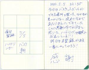 中島智久:練習日記2020.0505