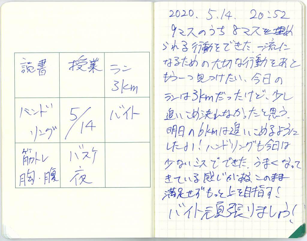中島智久:練習日記2020.0515