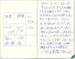 中島智久:練習日記2020.0514