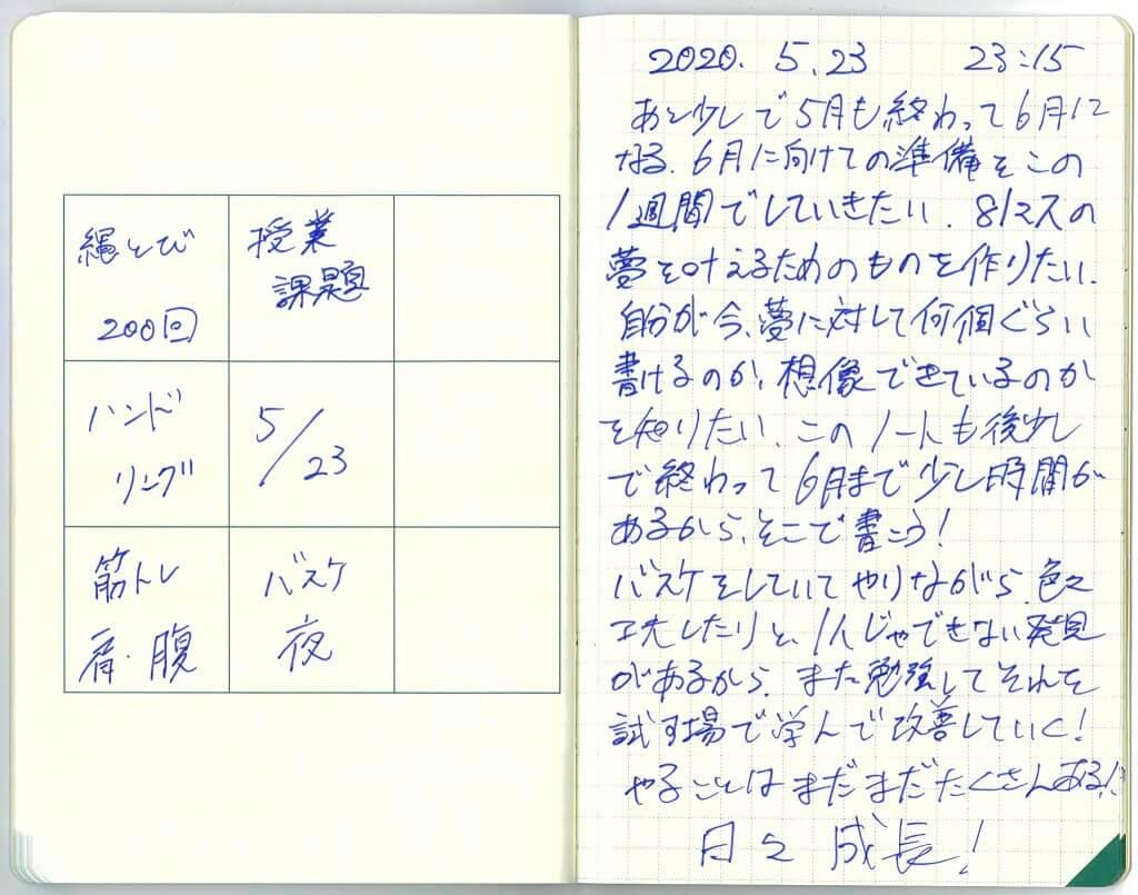 中島智久:練習日記2020.0525