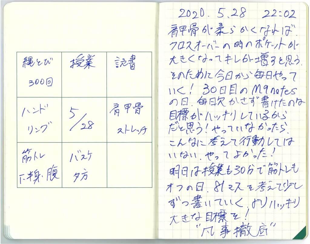 中島智久:練習日記2020.0528