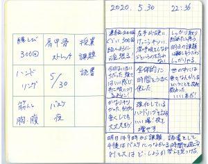 中島智久:練習日記2020.0530