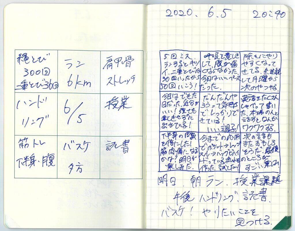中島智久:練習日記2020.0605