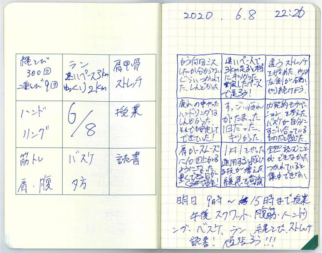 中島智久:練習日記2020.0608