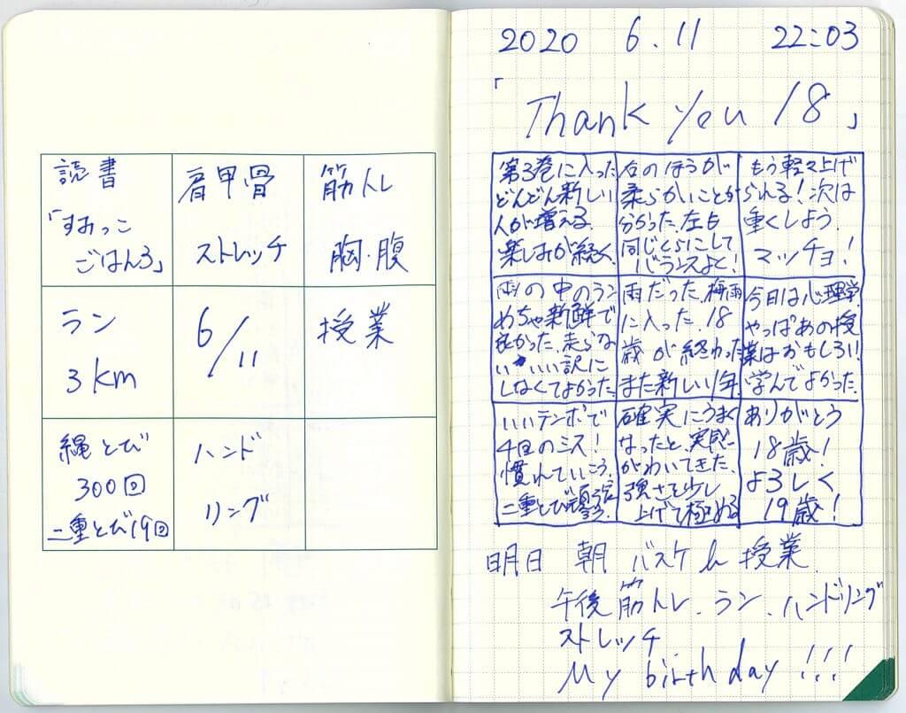 中島智久:練習日記2020.0611