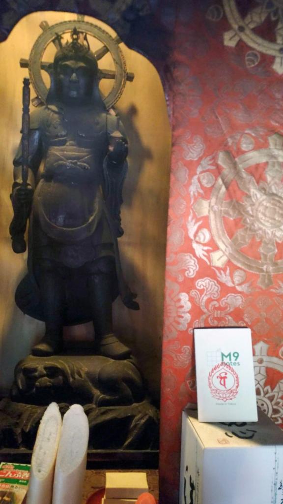 高野山・恵光院の毘沙門天とM9notes