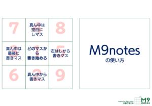 M9notesの使い方