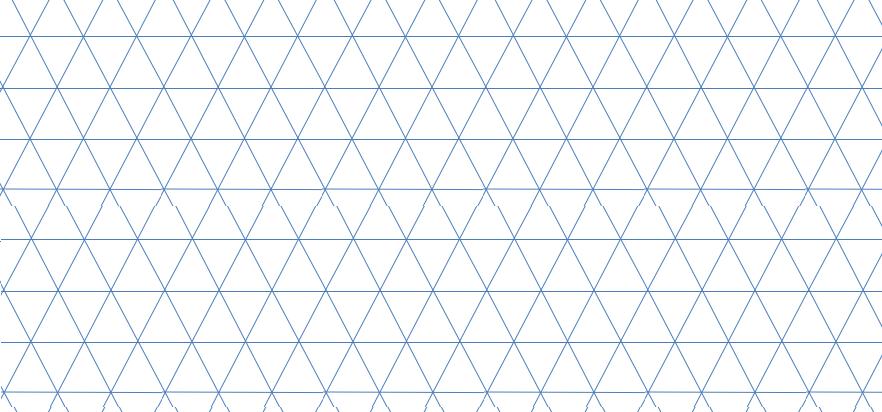 図14 格子細胞が構成する格子模様は60度の傾きを持つ